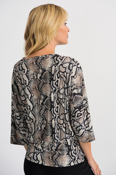 Joseph Ribkoff USA Inc. Snake Print Banded Hem & Tie Top - Alternate List Image