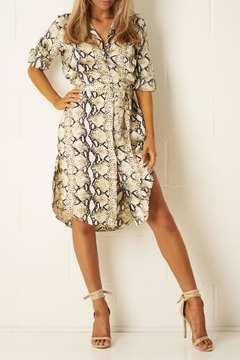 frontrow Snake-Print Belted Dress - Product List Image