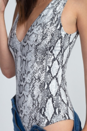 Fore Collection Snake Print Bodysuit - Side cropped