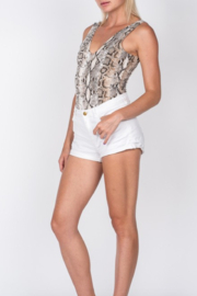 Fore Collection Snake Print Bodysuit - Front cropped