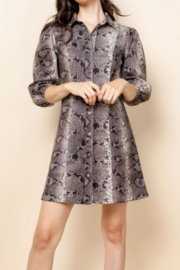 Thml Snake Print Button Down Dress - Product Mini Image