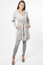 love token Snake Print Coat - Product Mini Image
