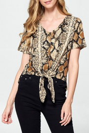 Ellison Snake Print Crop Top - Product Mini Image