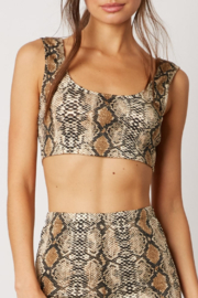 Cotton Candy Snake Print Crop Top - Product Mini Image