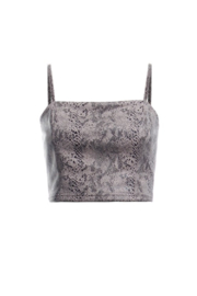 Renamed Clothing Snake Print Crop Top - Product Mini Image