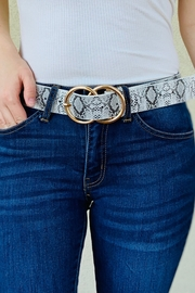 Art Box Snake Print Double Ring belt - Product Mini Image