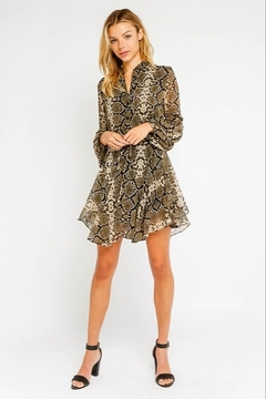 Olivaceous  Snake Print Dress - Alternate List Image
