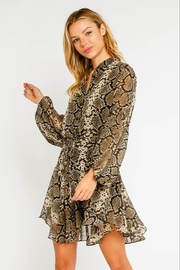 Olivaceous  Snake Print Dress - Product Mini Image