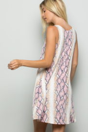 Heimish Snake Print Dress With Side Pockets - Front full body