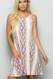 Heimish Snake Print Dress With Side Pockets - Front cropped