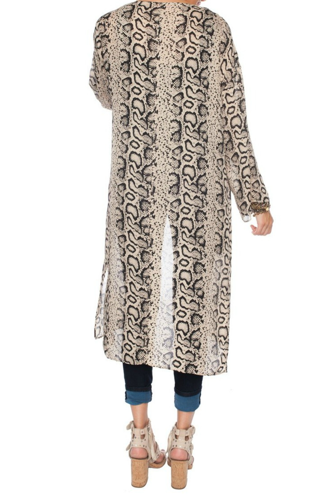 Buddy Love Snake Print Duster - Side Cropped Image