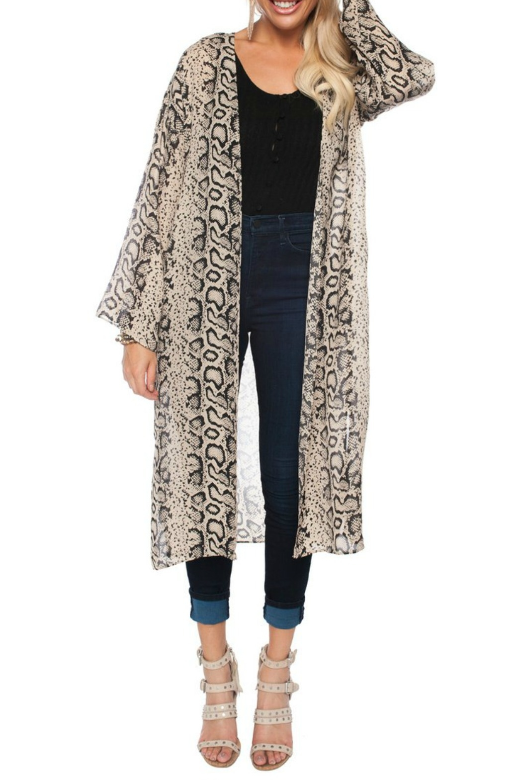 Buddy Love Snake Print Duster - Main Image