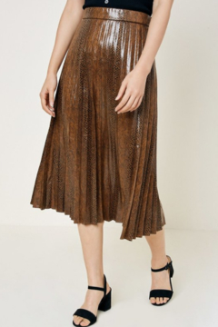 Hayden Los Angeles Snake Print Faux Leather Midi Skirt - Product List Image