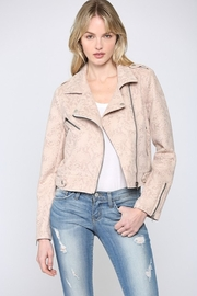 Fate Inc. Snake Print Faux Suede Moto Jacket - Product Mini Image