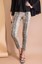easel  Snake Print Fitted Skinny Pants - Product Mini Image