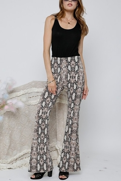 Adora Snake Print Flare Bottom Pants - Product List Image