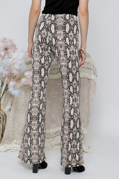 Adora Snake Print Flare Bottom Pants - Alternate List Image