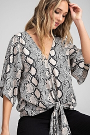 ee:some Snake Print Front Tie Top - Product Mini Image