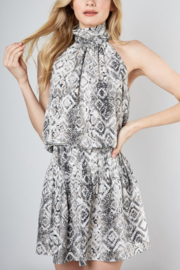 Do & Be Snake Print Halter Dress - Product Mini Image