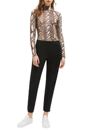 French Connection SNAKE PRINT HIGH NECK TOP - Front full body