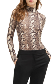 French Connection SNAKE PRINT HIGH NECK TOP - Product Mini Image