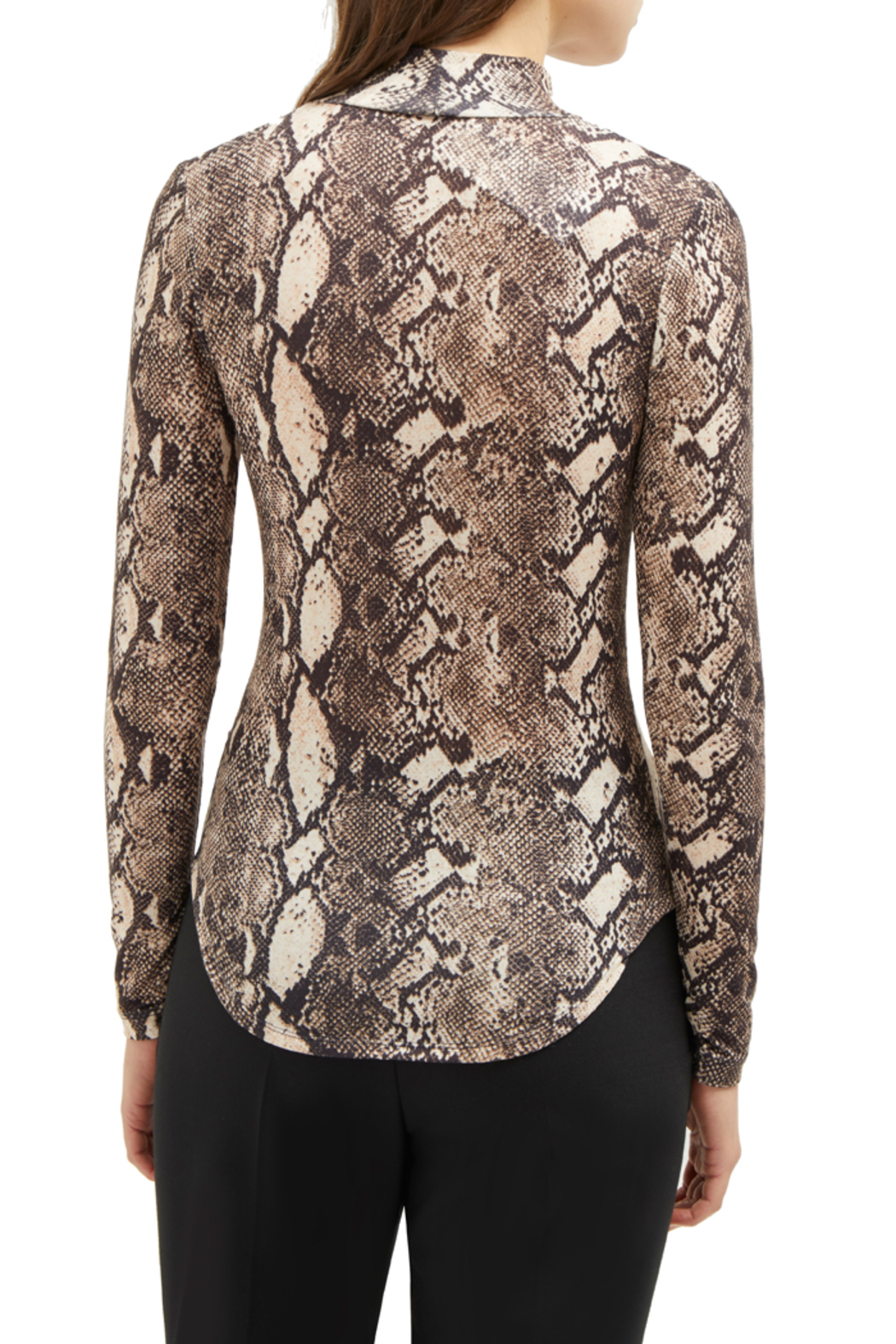 French Connection SNAKE PRINT HIGH NECK TOP - Side Cropped Image
