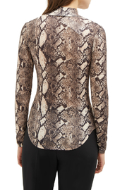 French Connection SNAKE PRINT HIGH NECK TOP - Side cropped