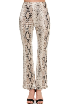 Shoptiques Product: Snake-Print High-Waist Pants