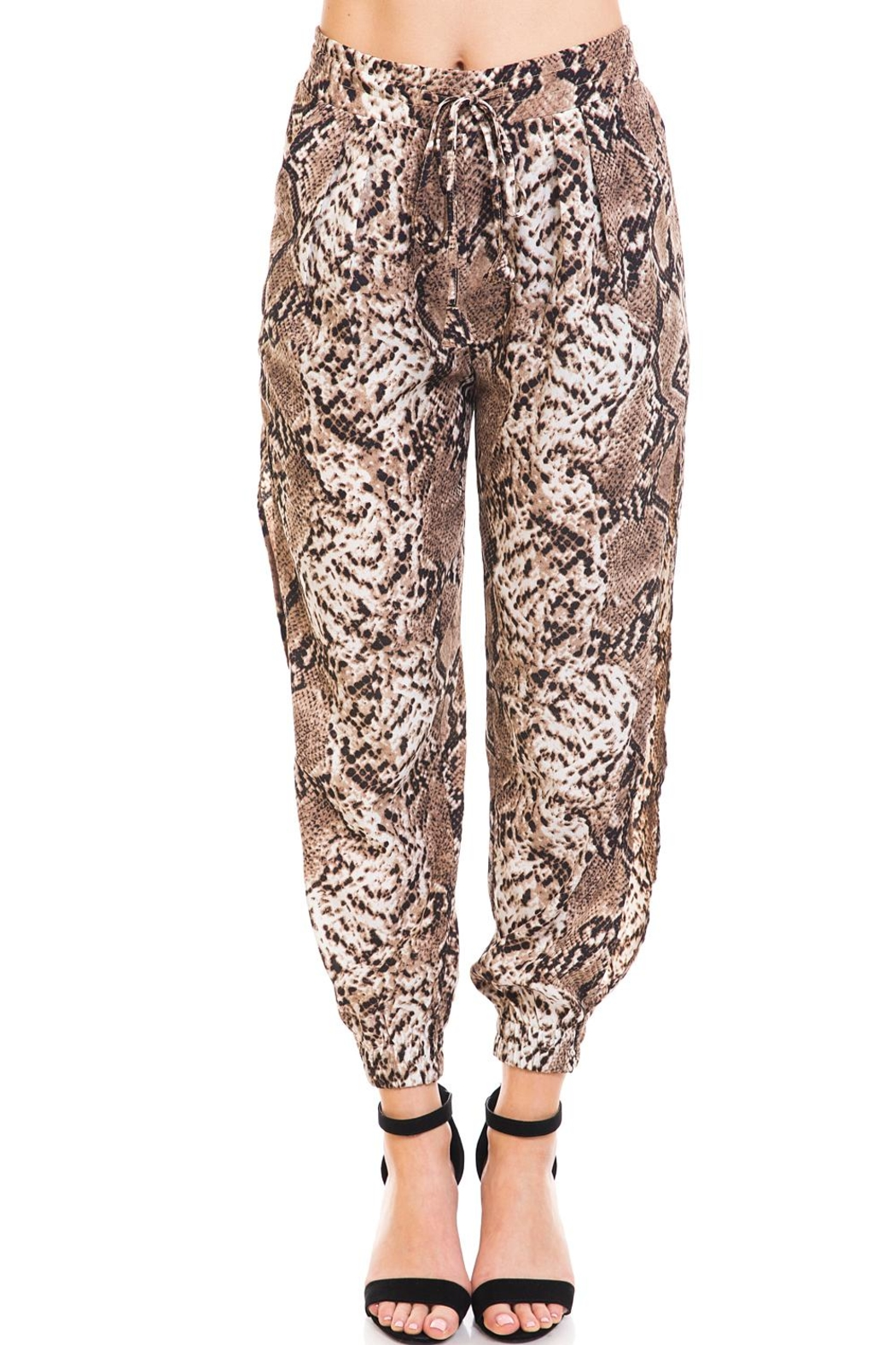 dress forum Snake Print Joggers - Front Cropped Image