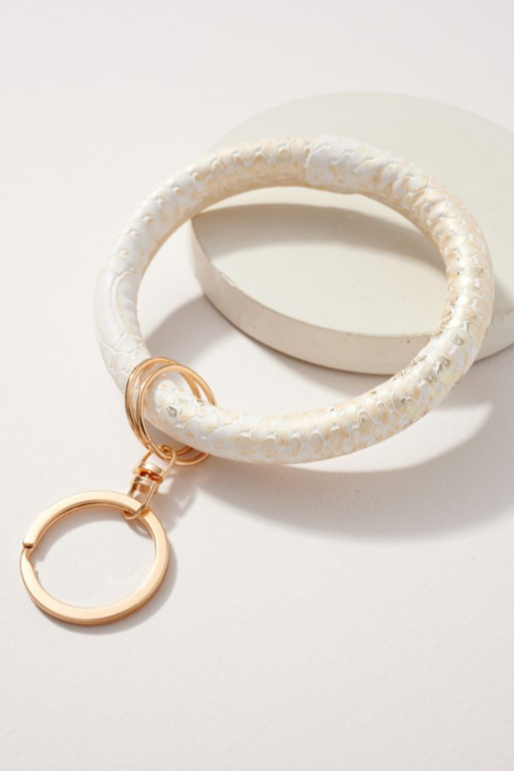 Moral Compass Inc Snake Print Keychain - Front Cropped Image