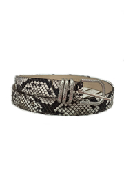 Leatherock Snake Print Leather Belt - Product Mini Image
