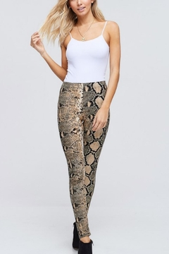 White Birch Snake Print Legging - Alternate List Image