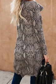 Love Valentine Boutique Snake Print Long Cardigan - Front full body