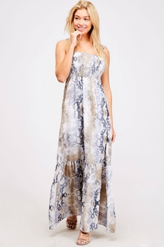 R+D Hipster Emporium  Snake Print Maxi - Product List Image