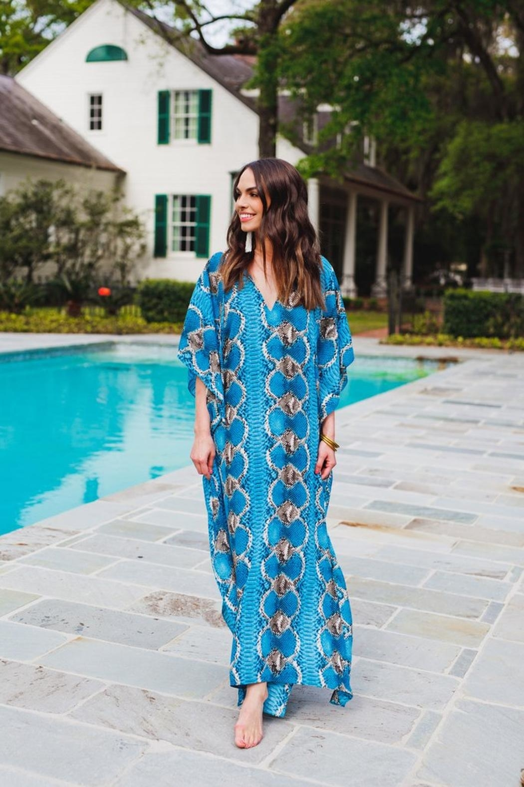 Buddy Love Miller Snake Print Maxi Dress - Front Full Image