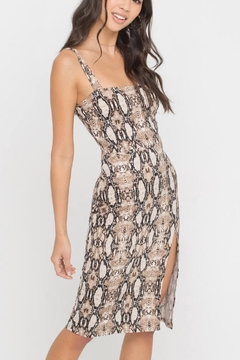 Lush Clothing  Snake-Print Midi Dress - Product List Image