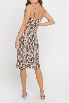 Lush Clothing  Snake-Print Midi Dress - Alternate List Image