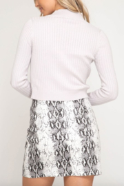 AVVIOLA Snake Print Mini Skirt - Side cropped