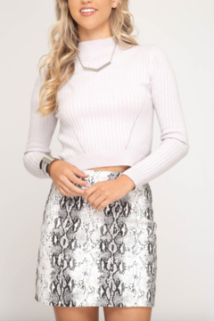 AVVIOLA Snake Print Mini Skirt - Product List Image