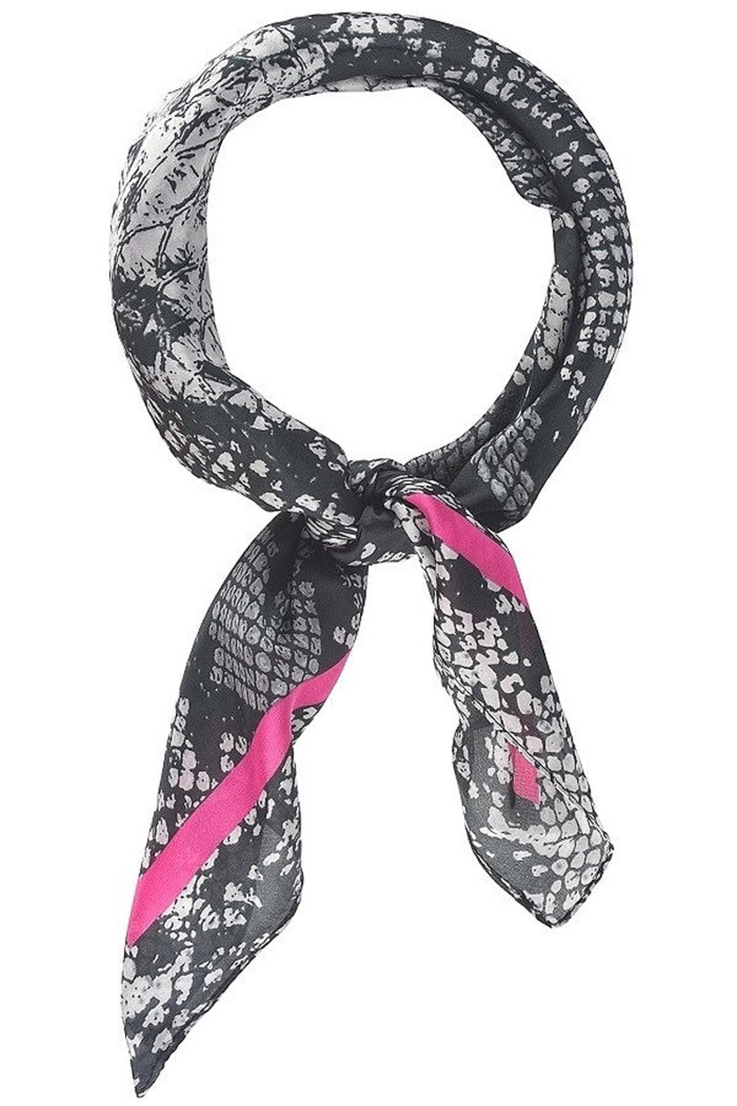 Olive and Pique Snake Print Neckerchief - Front Cropped Image