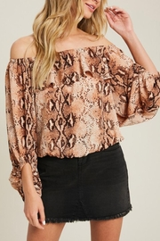 eesome Snake Print Off the Shoulder Top - Product Mini Image