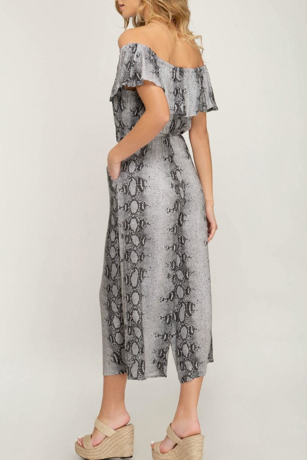 fe6965c5bf4 She + Sky Snake-Print Ots Jumpsuit from Wyckoff by Bedford Basket ...