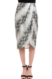 dress forum Snake-Print Overwrap Skirt - Front cropped