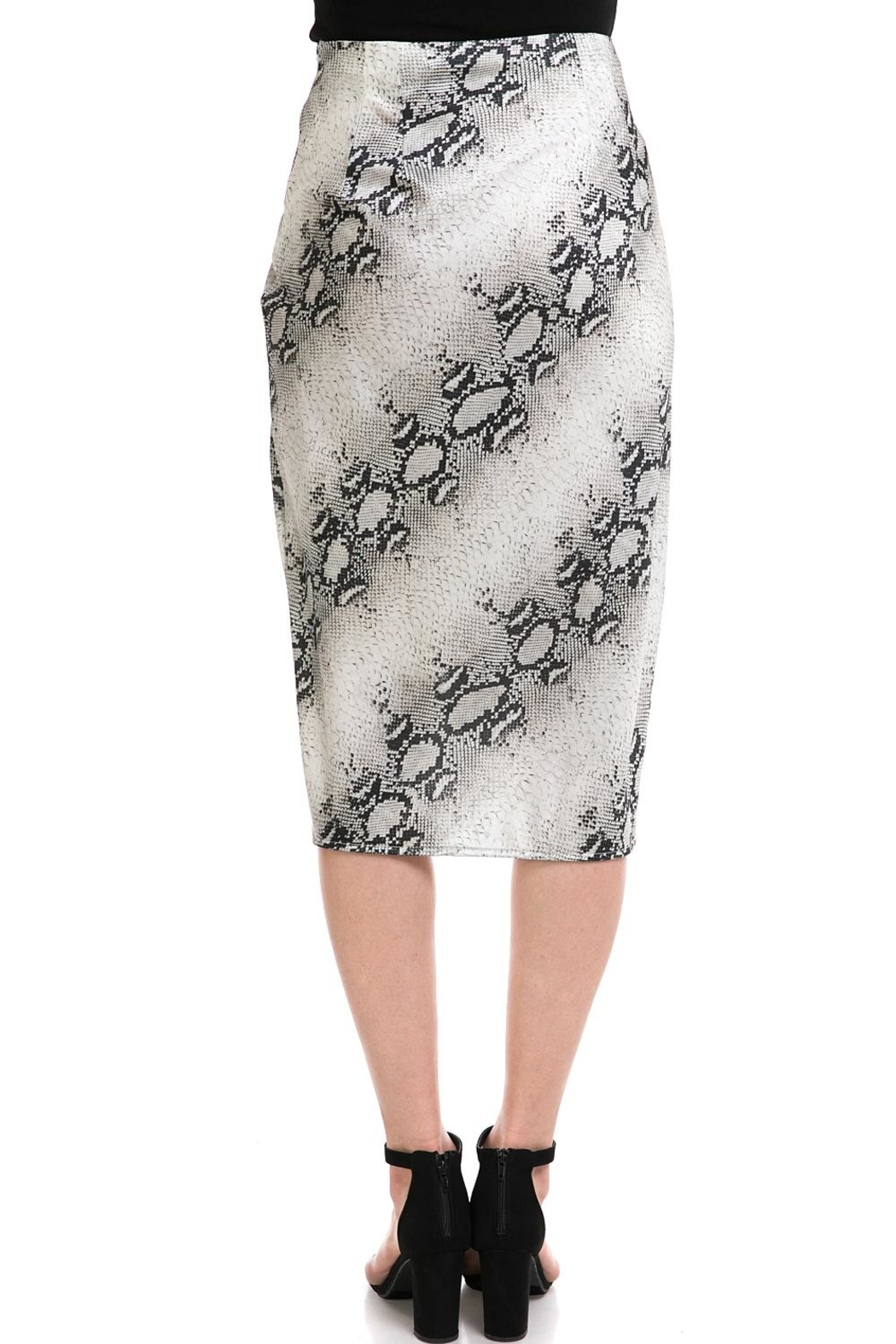 dress forum Snake-Print Overwrap Skirt - Back Cropped Image