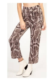 Polly & Esther Snake Print Pants - Front cropped