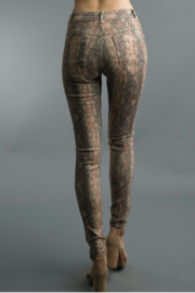 Tempo Paris  Snake Print Reversible Pant - Front full body