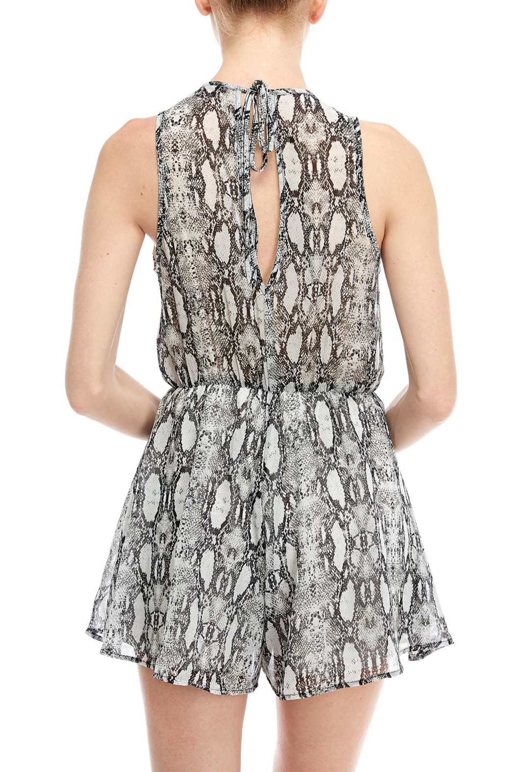 Final Touch Snake Print Romper - Back Cropped Image