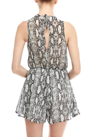 Final Touch Snake Print Romper - Back cropped