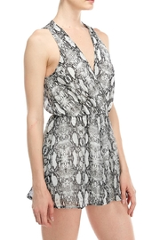 Final Touch Snake Print Romper - Front full body