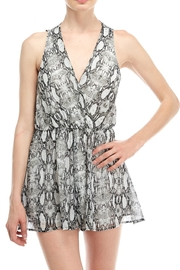 Final Touch Snake Print Romper - Front cropped